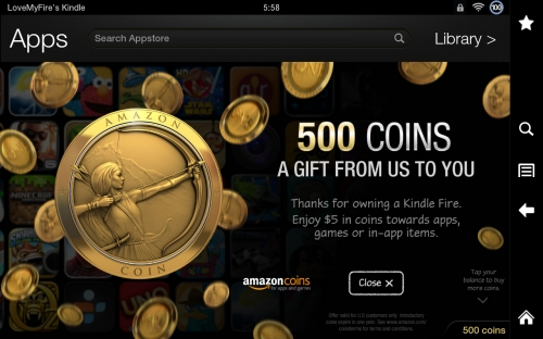 500 Free Coins from Amazon