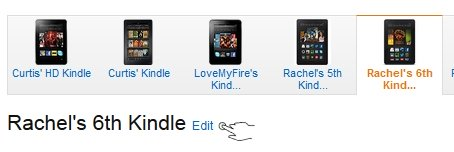 Edit Your Kindle Fire Name