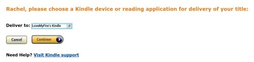 Amazon.com Choose a Kindle Device