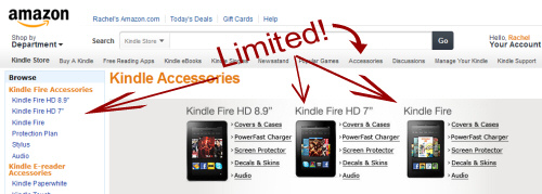 LIMITED: Amazon Kindle Fire Accessories