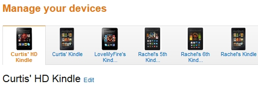 Your Devices on Amazon