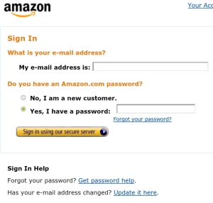 Sign In to Amazon.com