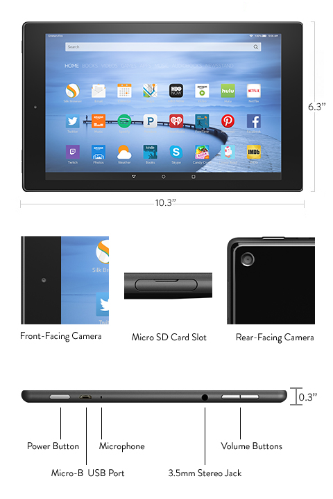 how to use rear facing camera on kindle fire