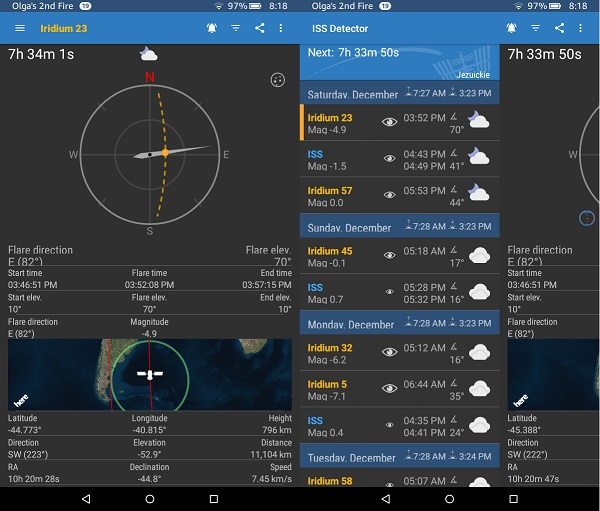 Astronomy Apps For Kindle Fire: ISS Detector