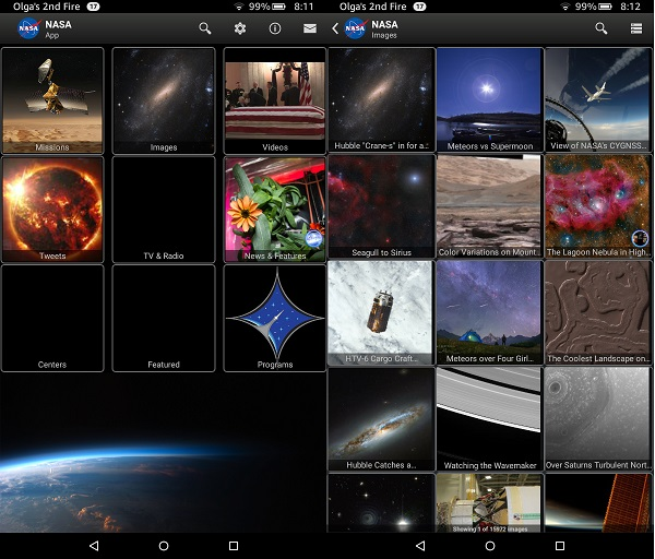 Astronomy Apps For Kindle Fire: NASA App
