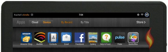 Built-in Kindle Fire Apps