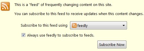 Subscribe to RSS Feed with Feedly