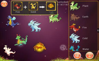 Dragon Alchemy: Combining Fire + Gold = Sun