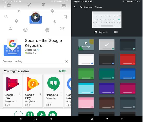 Google Apps On Kindle Fire: Gboard