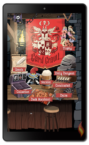 Card Crawl Game on Kindle Fire 10