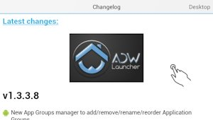 ADW Launcher Latest Changes