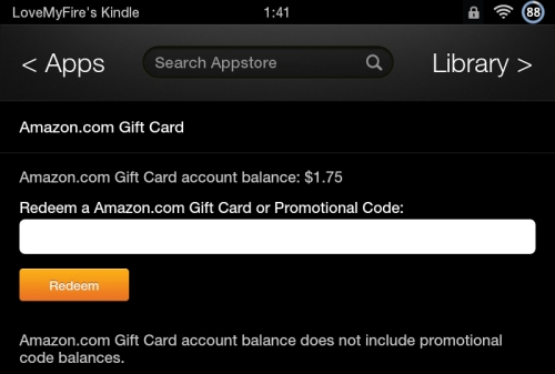 Redeem Amazon Gift Card