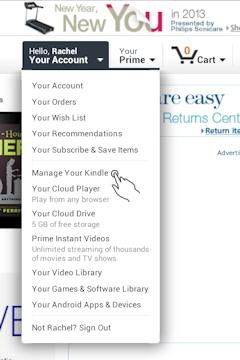 Manage Your Kindle on Amazon