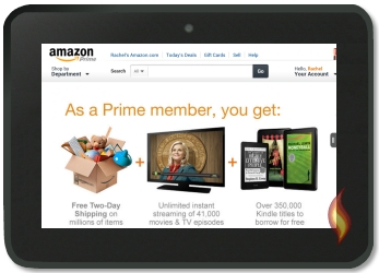 Amazon Prime on my Kindle Fire HD