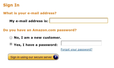 Enter your email address and password