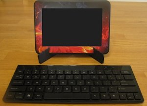 Kindle Fire with Bluetooth Keyboard