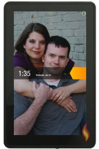 Kindle Fire Custom Background of Husband and Me