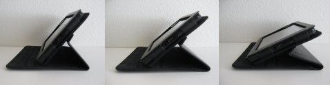 Three Kindle Fire Cover Viewing Angles