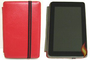 My Kindle Fire Cover, Frameless Red Portrait