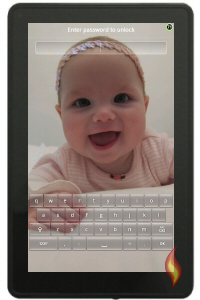 Kindle Wallpaper with Baby Phot