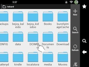 ES File Explorer App: Tap DCIM Folder