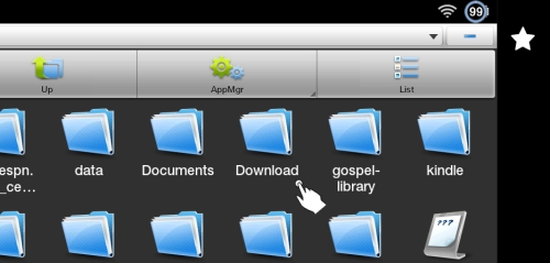 ES File Explorer Tap Download Folder