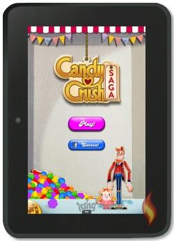 Play Candy Crush Saga on Kindle Fire