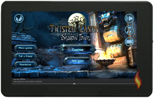 Twisted Lands Shadow Town Start Screen