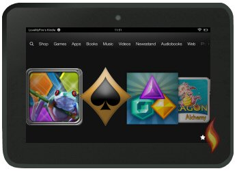 Free Games on My Kindle Fire's Carousel