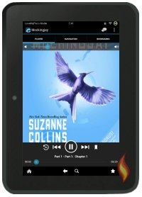 Kindle Fire OverDrive App Mockingjay by Suzanne Collins; Book Cover Copyright Scholastic