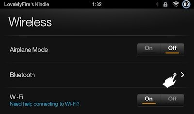 Kindle Fire Bluetooth Settings