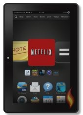 Carousel Showing Netflix on Kindle Fire HDX 7