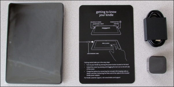 Unboxed Kindle Fire HDX and all Parts