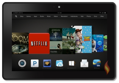 Kindle Fire HDX 8.9 Carousel