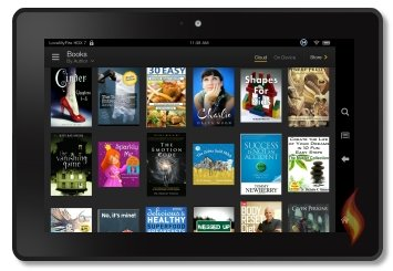 Books on my Kindle Fire HDX