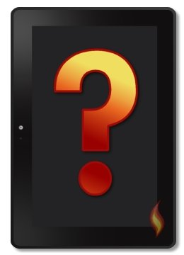 Kindle Fire Tablet With Question Mark