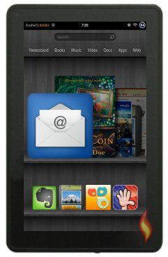 Kindle Fire Home Carousel Email Ap