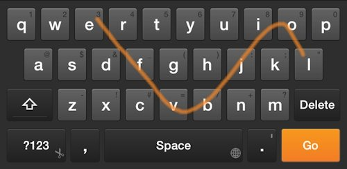 Swipe on my Kindle Fire Keyboard