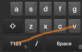 Swipe Shortcut: Paste