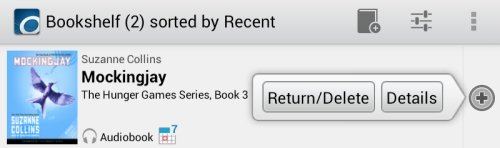Kindle Fire OverDrive App Return Audio Book