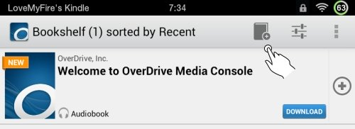 Kindle Fire OverDrive App Add Books