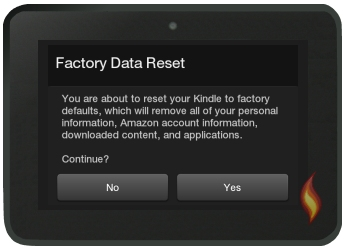 Kindle Fire Reset to Factory Defaults