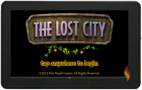 The Lost City Home Screen