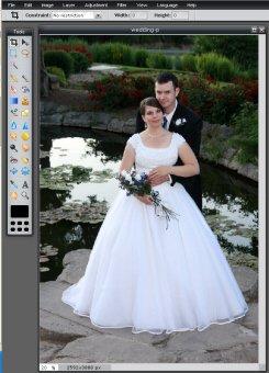 Opened Wedding Photo