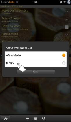 Rotating Wallpaper Select Set