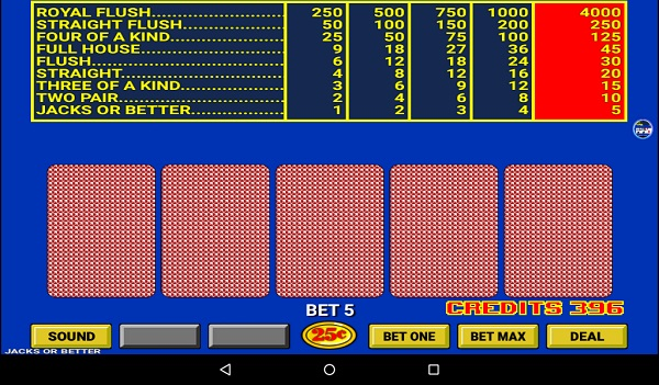Kindle Fire Poker Games: Video Poker