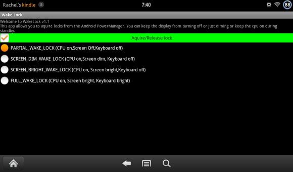 Kindle Fire App Properly Configured